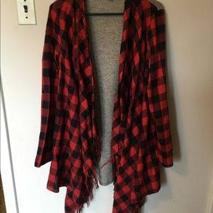 Buffalo plaid cardigan NWOT Small